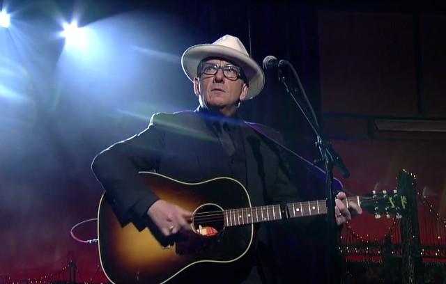 Elvis Costello on Letterman