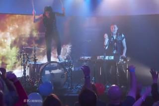 Watch Matt And Kim&#8217;s Joyous Balloon Party On <em>Kimmel</em>