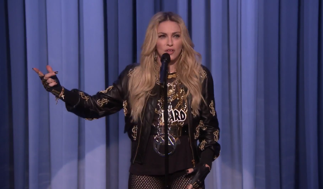 Madonna Stand Up Jimmy Fallon Bitch I'm Madonna Diplo