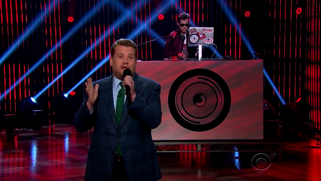 James Corden Mark Ronson Rap Late Late Show