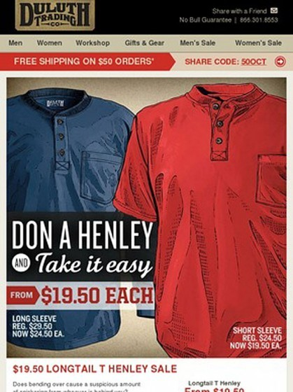 Wisconsin Clothing Company Makes Court-Ordered Apology To Don Henley, Promises To Take It Easy On The Shirt Puns