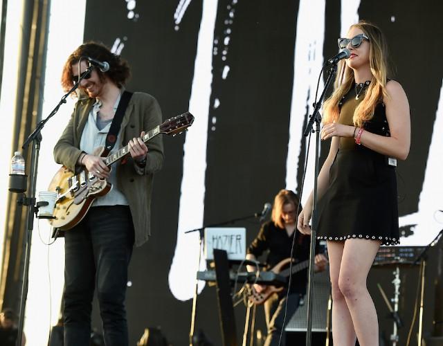 "Watch Hozier & Este Haim Cover The Time's ""Jungle Love"" At Coachella"