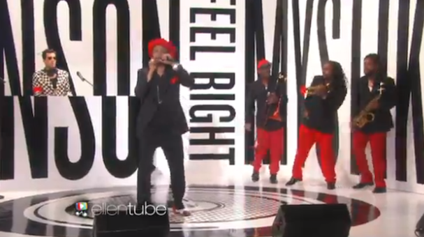 "Watch Mark Ronson And Mystikal Bring ""Feel Right"" To Ellen"