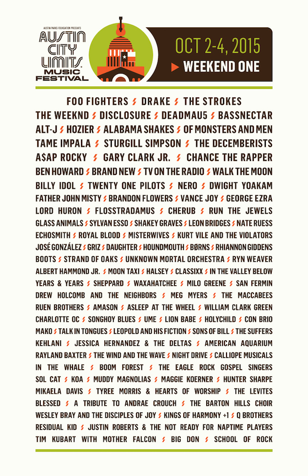 ACL 2015 - Weekend 1