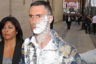Adam Levine covered in sugar