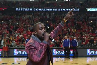 """Watch Kanye West Perform """"All Day"""" At A Chicago Bulls Game"""