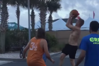 Watch Win Butler And Diplo Play Pickup Basketball At Hangout Festival