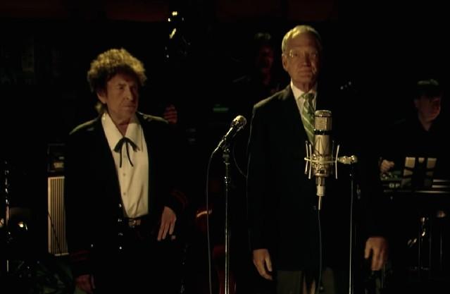 David Letterman and Bob Dylan