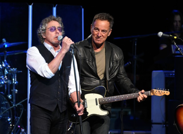 Roger Daltrey and Bruce Springsteen