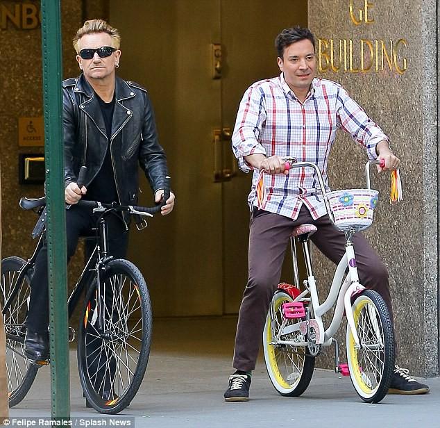 Bono and Jimmy Fallon