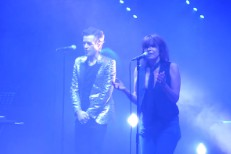 Brandon Flowers and Chrissie Hynde