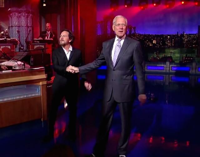 Eddie Vedder on Letterman