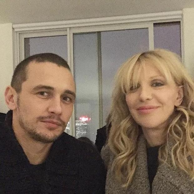 James Franco and Courtney Love