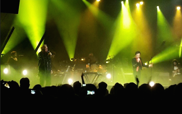 "Watch Brandon Flowers Cover New Order's ""Bizarre Love Triangle"" With Bernard Sumner"
