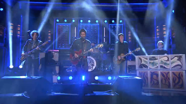 """Watch Noel Gallagher's High Flying Birds Perform """"Lock All The Doors"""" On Fallon"""