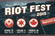 Riot Fest 2015 Lineups