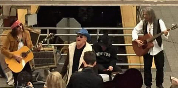 U2 Busked In The NYC Subway Last Night