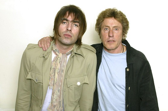 Liam Gallagher and Roger Daltrey