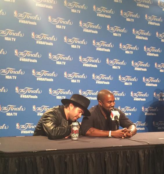 Watch Kanye West Commandeer An NBA Press Conference