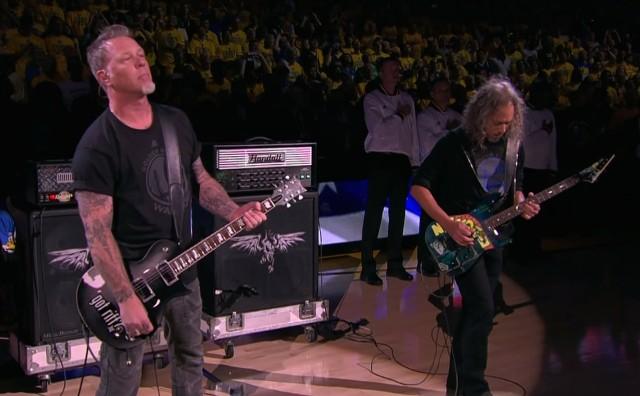 Metallica at the NBA Finals