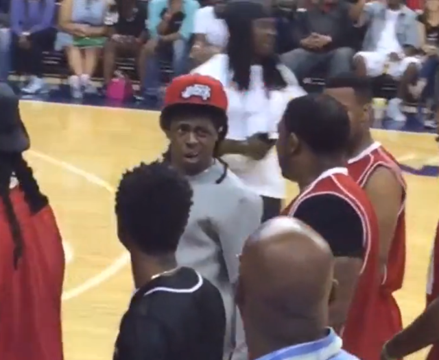 Watch Lil Wayne Try To Fight The Referee At Charity Basketball Game