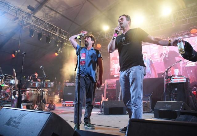 Jon Hamm & Zach Galifiankis @ 2015 Bonnaroo Music & Arts Festival