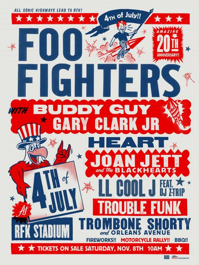 Foo Fighters 20th Anniversary Event Poster