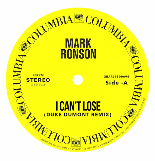 "Mark Ronson - ""I Can't Lose (Duke Dumont Remix)"""