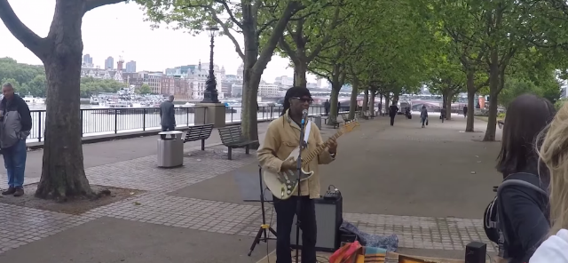 Watch Nile Rodgers Make $20 Busking In London
