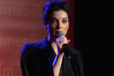Watch St. Vincent Discuss David Byrne Collab And That Time She Fell Off A Speaker In TimesTalk