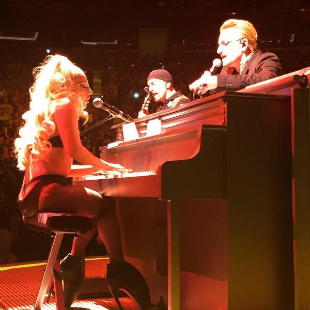 Watch Lady Gaga Join U2 In NYC