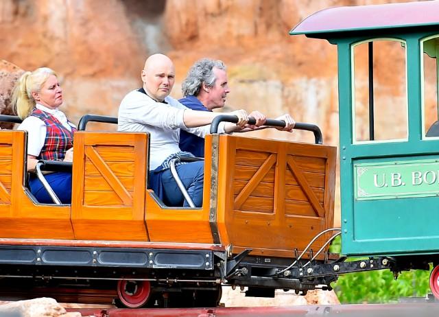 Billy Corgan Braves Disneyland