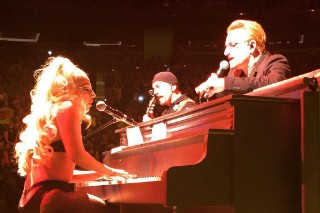 Watch Lady Gaga Join U2 In NYC