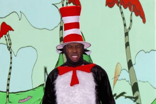 Watch Tyler, The Creator Rap The New Dr. Seuss Book In A Cat In The Hat Costume On <em>Kimmel</em>