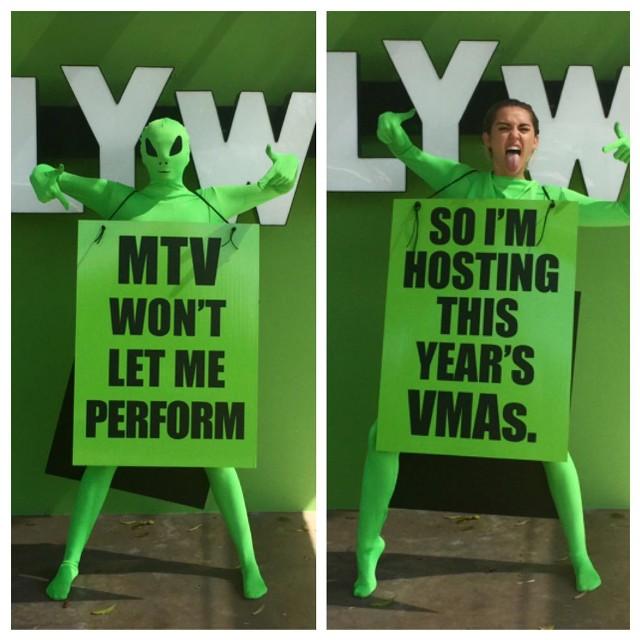 Miley Cyrus Is Hosting The 2015 MTV VMAs