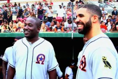 Watch Drake & Hannibal Buress Attempt To Play Softball