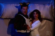 James Corden and Paula Abdul