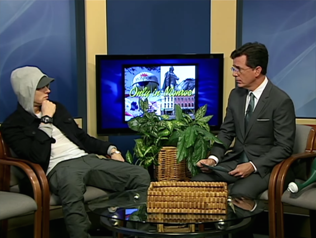 Watch Stephen Colbert Interview Eminem On A Michigan Public Access Show