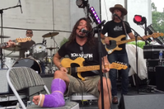 "Watch Dave Grohl And Friends Cover Neil Young's ""Cinnamon Girl"" At His Motorcycle Rally"