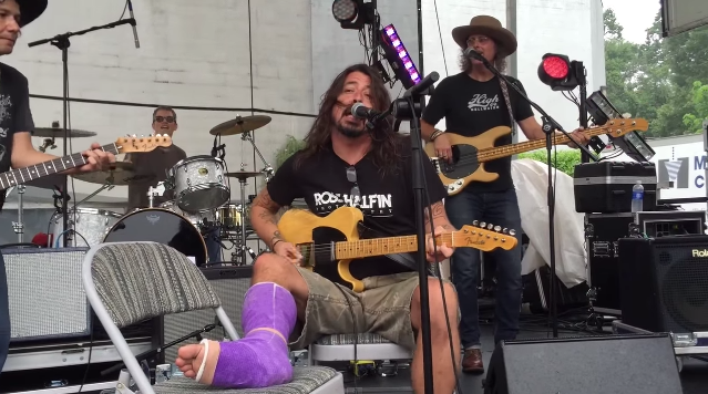 Dave Grohl Cinnamon Girl Neil Young Motorcycle Rally