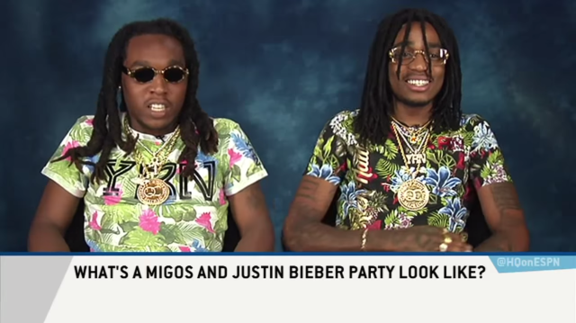 Watch Migos Visit ESPN's Highly Questionable