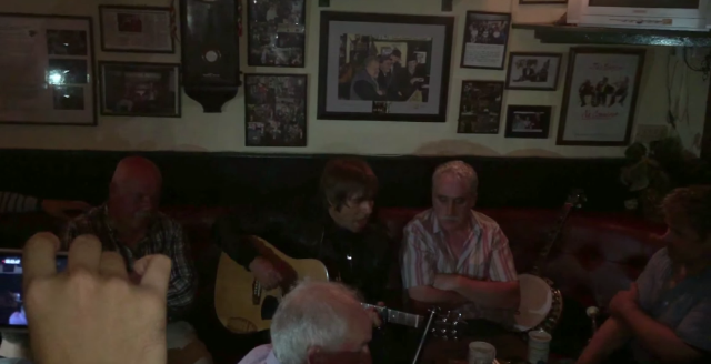 Watch Liam Gallagher Play A New Song In An Irish Pub