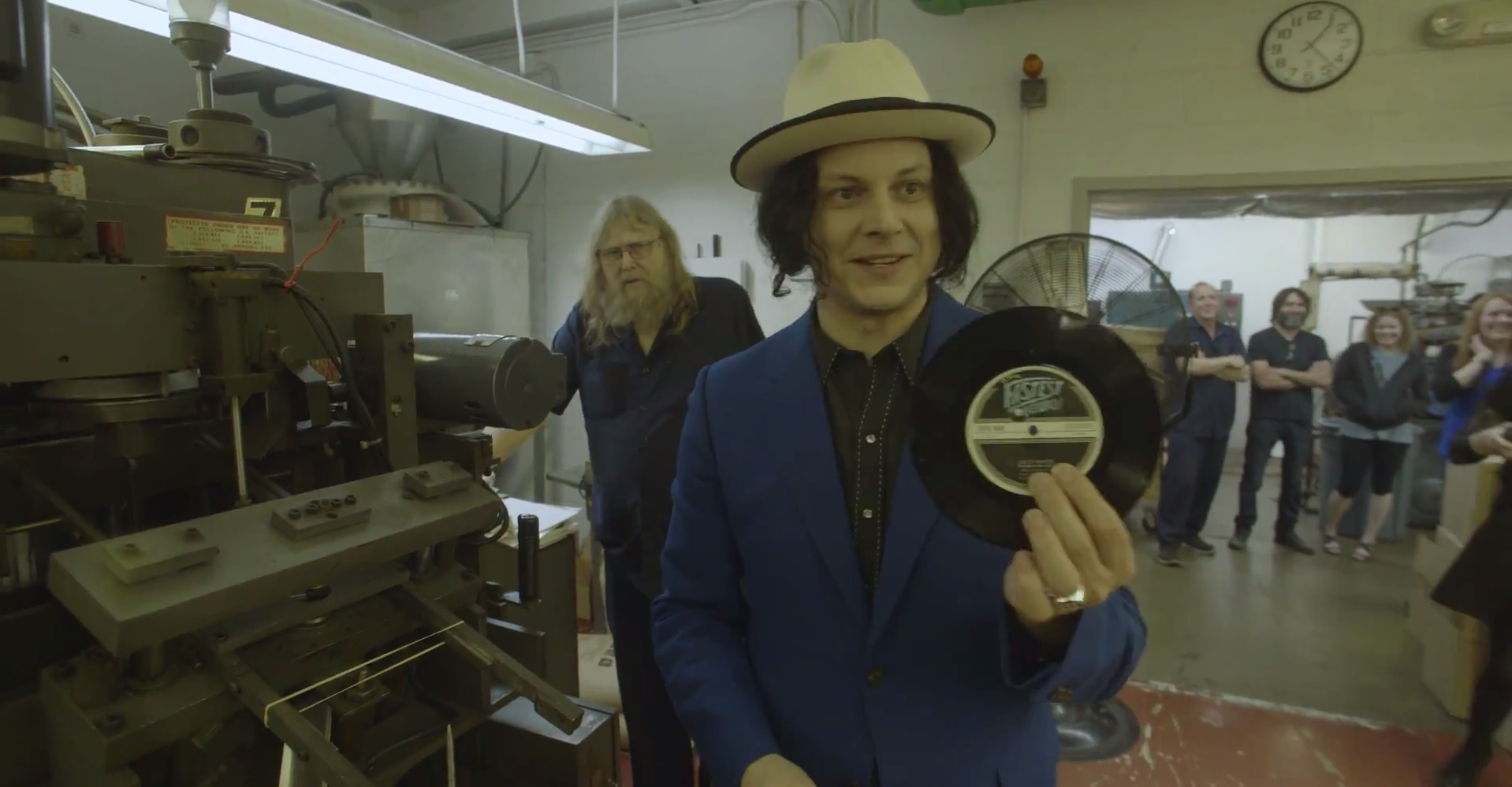 Jack White at the Third Man Records plant