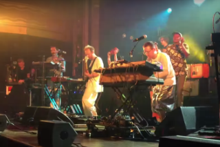"Watch Hot Chip Cover LCD Soundsystem's ""All My Friends"" With David Byrne, Nancy Whang"