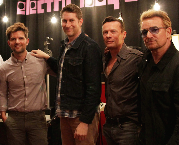 Hear U2 On Scott Aukerman & Adam Scott's <em>U Talkin' U2 To Me</em> Podcast