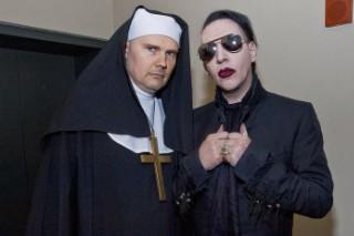 "Watch Marilyn Manson & Billy Corgan (Dressed As A Nun) Sing ""Girls Just Wanna Have Fun"" In Nashville"