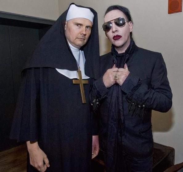 Billy Corgan and Marilyn Manson