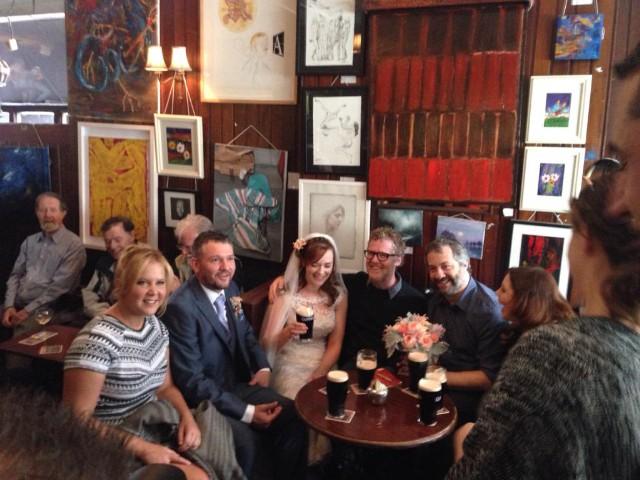 Watch Glen Hansard And Amy Schumer Serenade Newlyweds In An Irish Pub