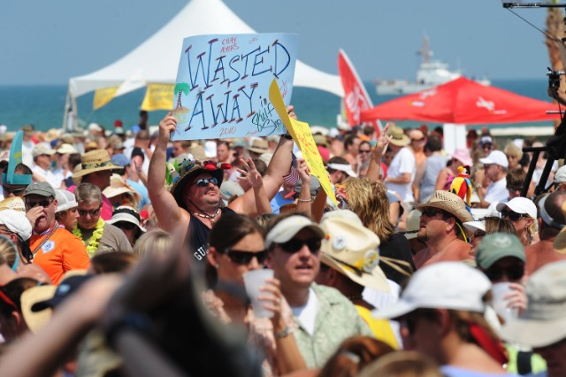 Wait, Parrotheads Bring Homemade Toilets To Jimmy Buffett Concerts?