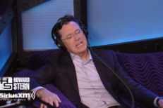 Watch Stephen Colbert's Mick Jagger Impression On Howard Stern